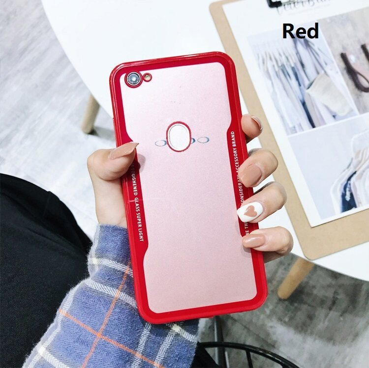 Oppo F5 Oppo F5 Youth OppoF5 Arcylic Hybrid Phone Case Casing Cover  [Black/Red/White/BlackRed]