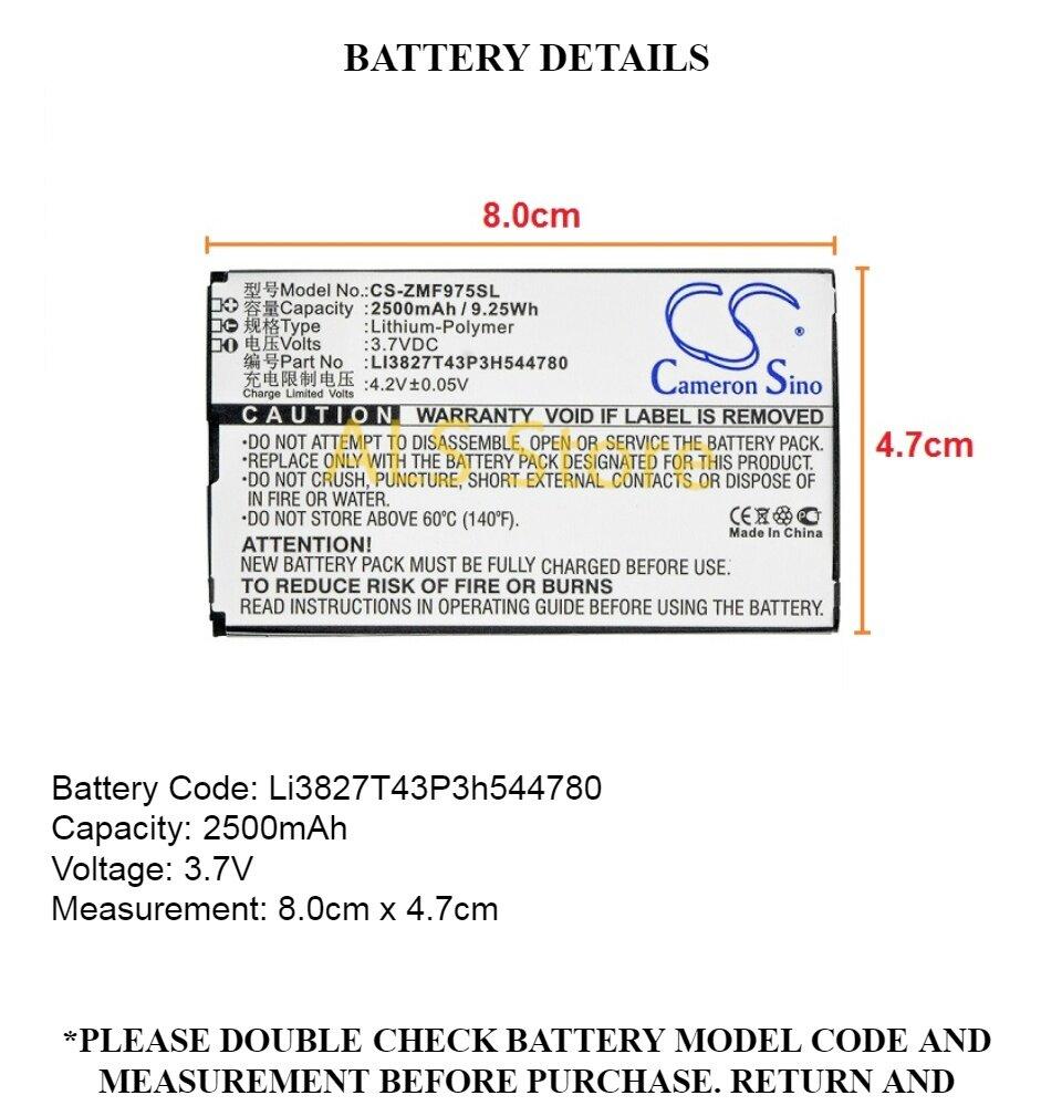Battery ZTE MF975 / MF975S 3G 4G LTE POCKET WIFI 303ZT