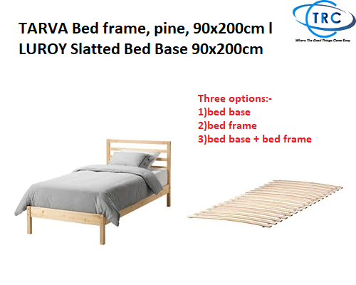 Ready Stock Ikea Tarva Bed Frame Pine 90x200cm L Luroy Slatted Bed Base 90x200cm