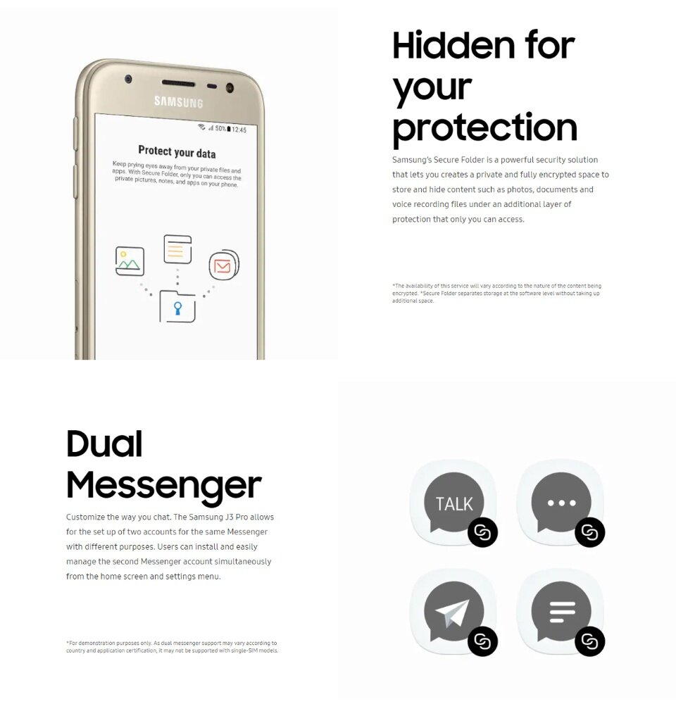 Samsung Galaxy J3 Pro Pink SM-J330G/DS / Gold SM-J330G/DS / Pink SM