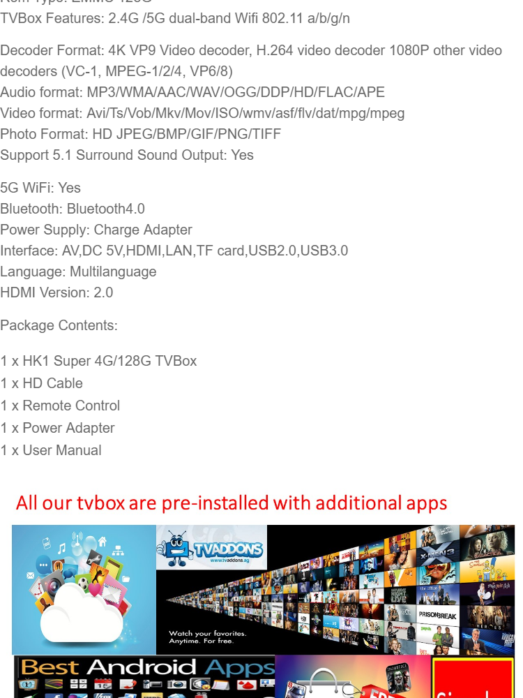 NEW 128G TVBOX HK1 Super 4G Ram 128G Rom 5G Wifi 4K Bluetooth TVBox  (Pre-installed live channels + Latest Apps) Tvbox Android 9 USB3 0 Malaysia