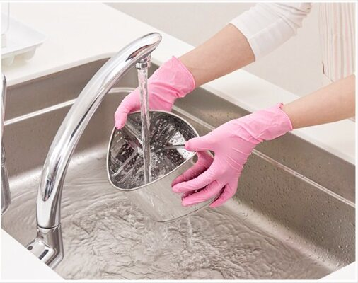 Showa Rose Pink Food Grade Disposable Nitrile Gloves 50pcs (S Size)