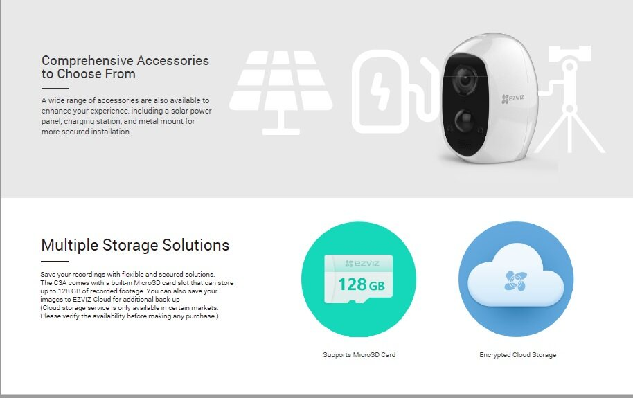 EZVIZ C3A 1080P Wire-Free Full HD Build-In Battery Smart Home Security CCTV  Camera (CS-C3A-A0-1C2WPMFBR) FREE RM30 Kaodim Voucher