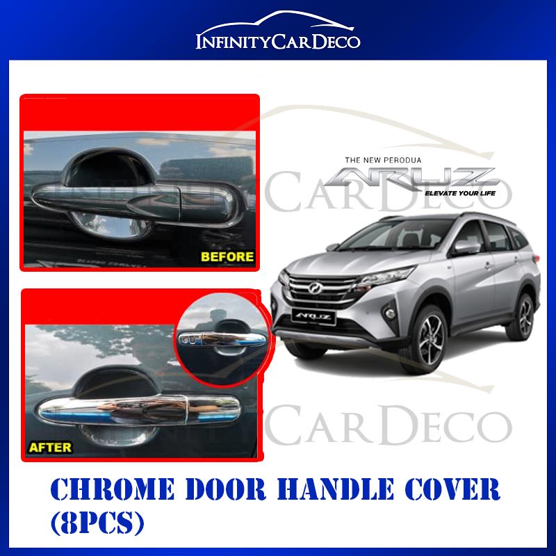Perodua Aruz Chrome Door Handle Cover (8pcs)
