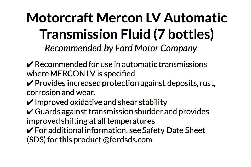 Genuine FORD Motorcraft MERCON - LV Automatic Transmission Fluid (1 Quart)  X 7 bottles pack