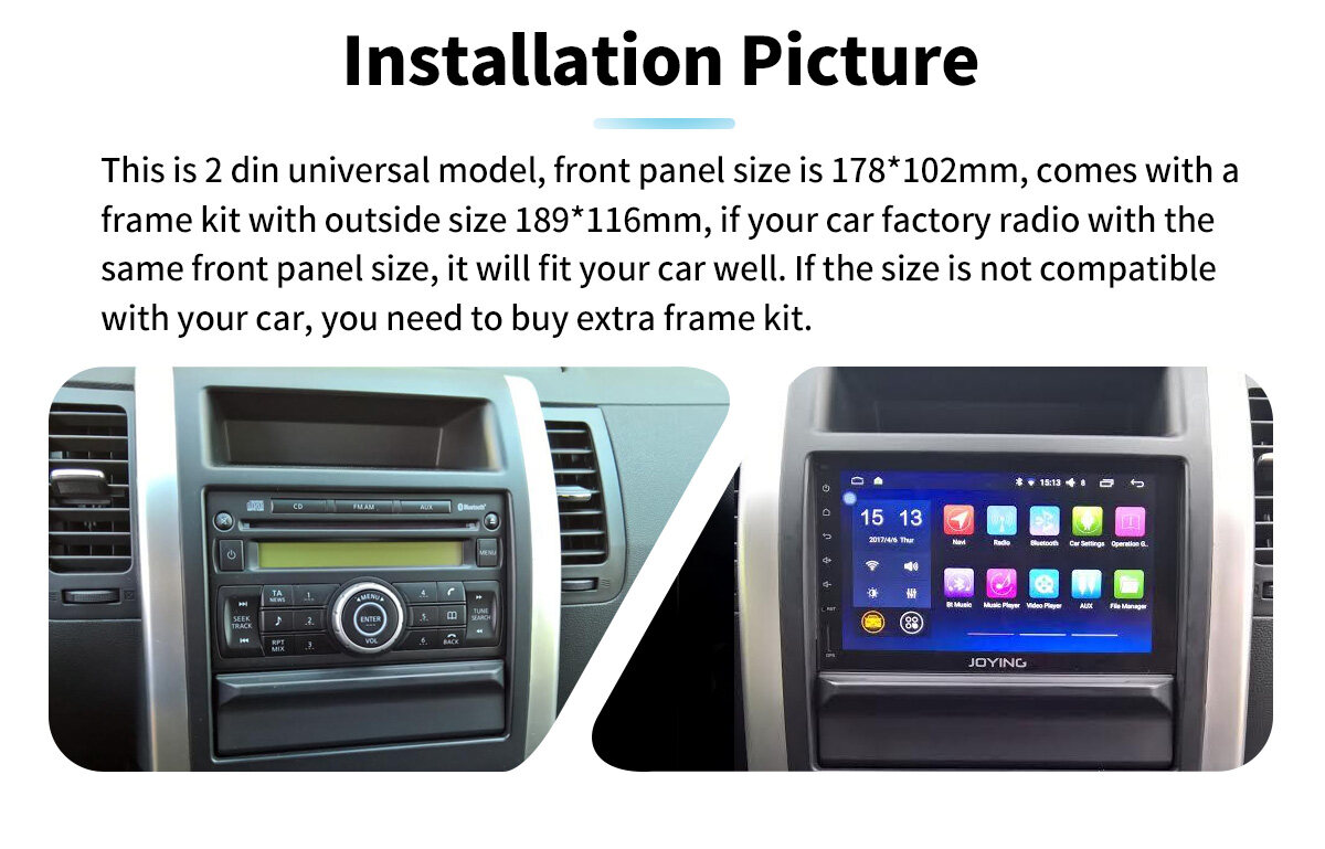 JOYING Android 8 1 Universal 2 din 7inch car Multimedia Player head unit  178*102mm car stereo radio GPS navigator no DVD full touch Screeen with  octa