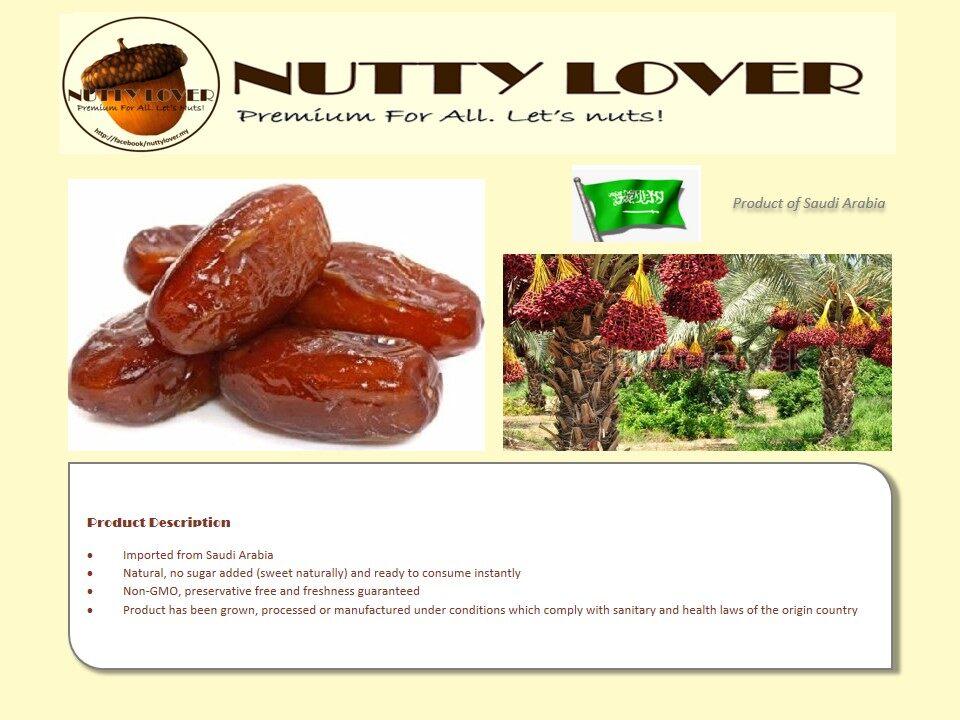 500gram Nutty Lover Premium Khudry Date Saudi Arabia / Kurma Kudri