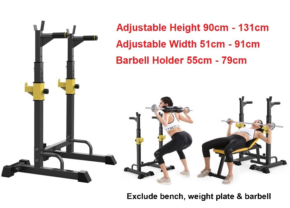 Pleasant Sellincost 250Kg Squat Rack Adjustable Barbell Stand Weightlifting Bench Press With Safety Hook Spotter Mk Dw02 Black Color Bralicious Painted Fabric Chair Ideas Braliciousco
