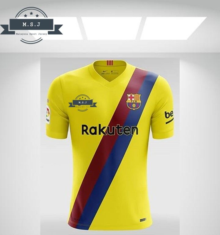 pretty nice cc6c8 6b878 (Ready Stock) 2019/20 LaLiga Yellow Away Jersey Kit for Men (Barcelona)