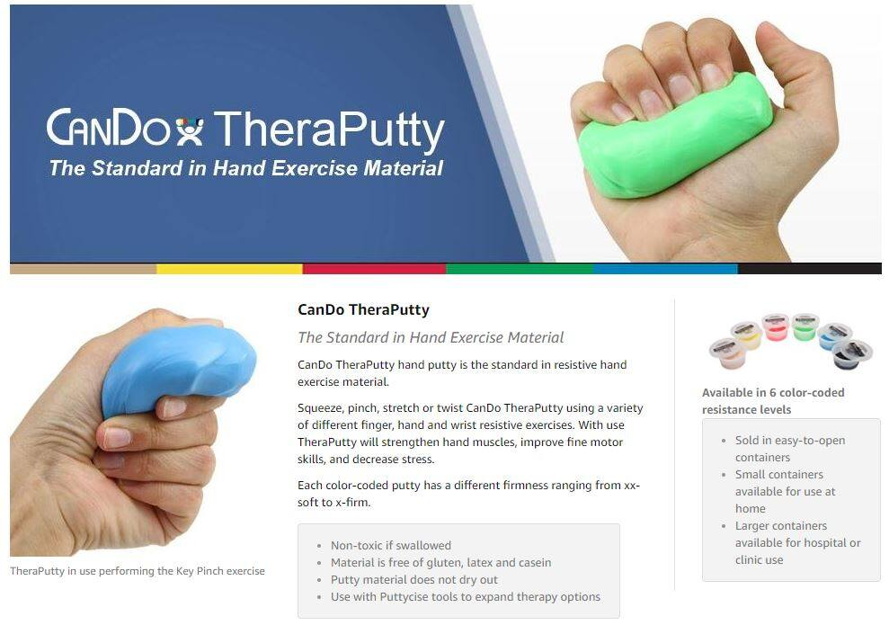 Therapy Putty Blue ~ Firm (100gm) for Hand and Finger Exercise, Hand & Grip  Strength Exercises
