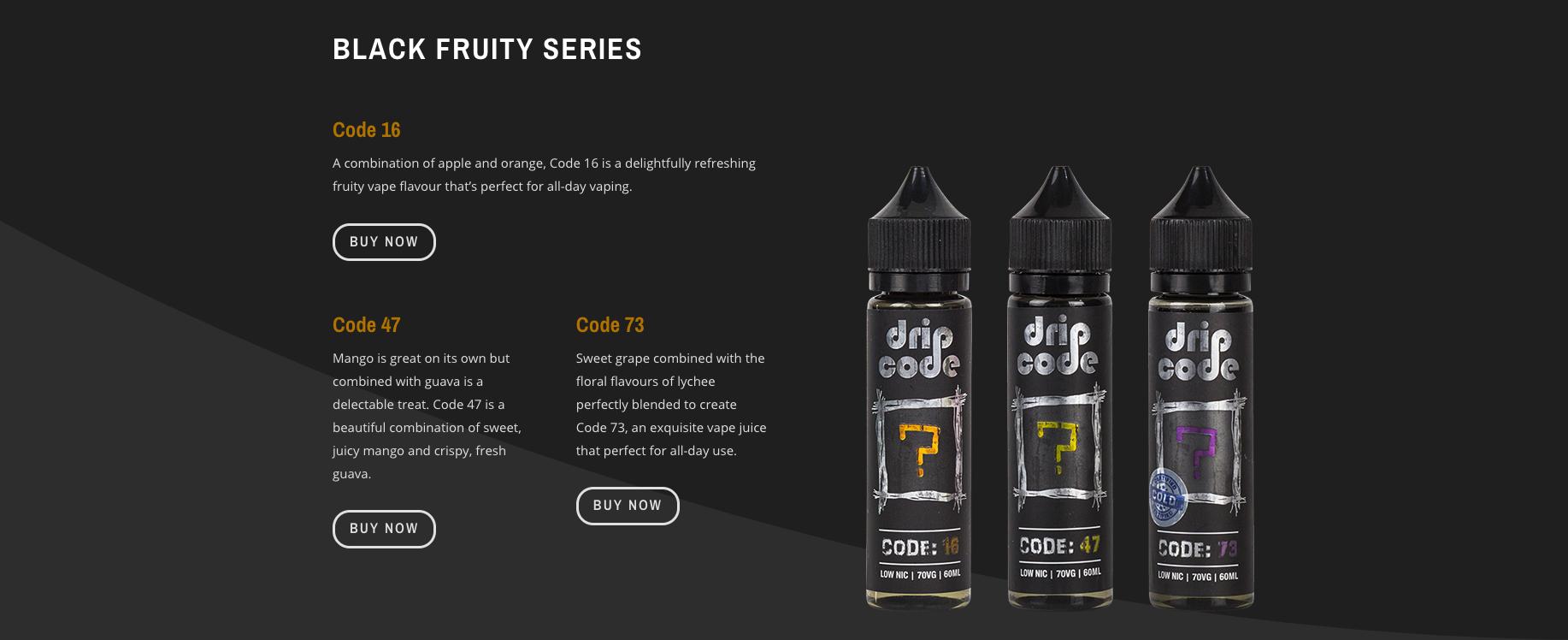 GENUINE Drip Code - Code 16 - 60ml E-Liquid E-Juice Flavor Vape E-Cigarette  (Does not contain nicotine)