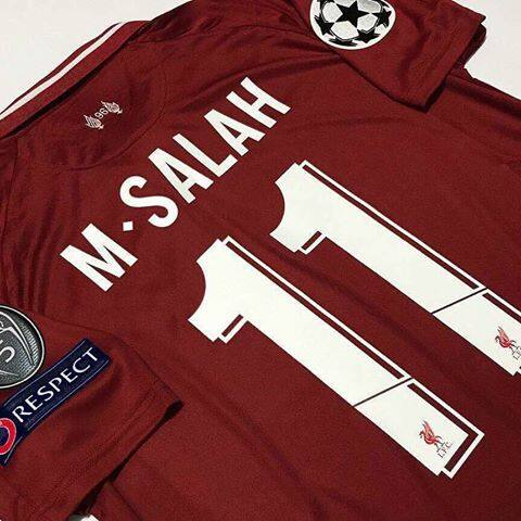 new concept 588a8 7eed3 Liverpool Home Jersey 2018/19 M.salah UCL Nameset With Full Patch