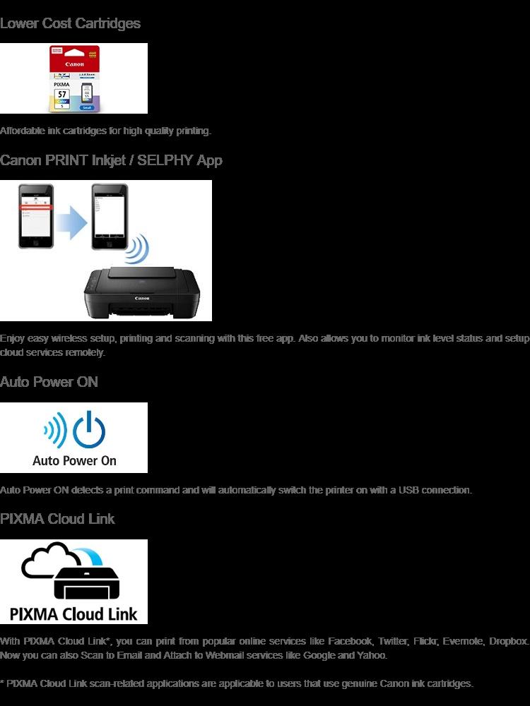 CANON PIXMA E470 AIO PRINTER (WiFi/Google Cloud Print/Pixma Cloud Link)  (FINDC)