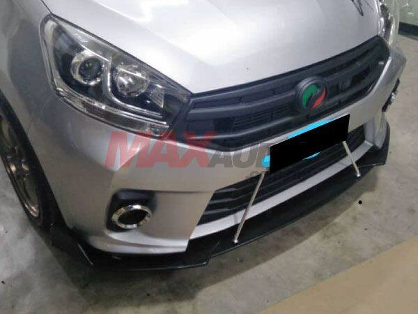[FREE GIFT] Universal (V-Style) (Gloss Black Color) Front Bumper ABS Wrap  Angle Wind Splitters Diffuser Lips Skirt Guard For All Vehicle Car