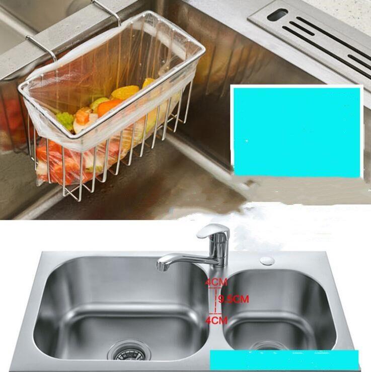Kitchen Sink Sponge Holder.Stainless Steel Multifunctional Kitchen Sink Sponge Holder Organizer