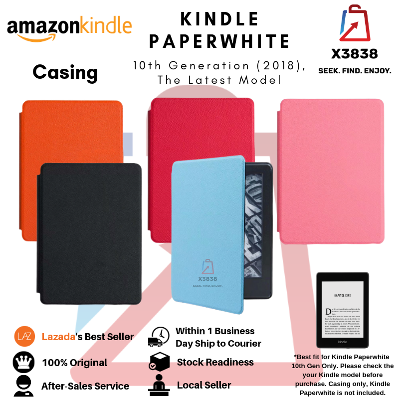 Amazon Kindle Paperwhite 2018 10th Generation Ultra Slim Leather Case Cover  Tablet Protective Shell Skin