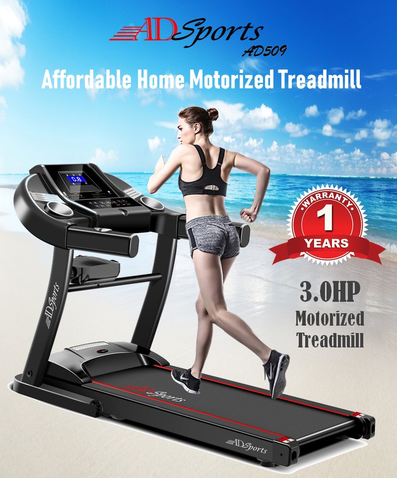 ADSports AD509 Electric Motorized Treadmill