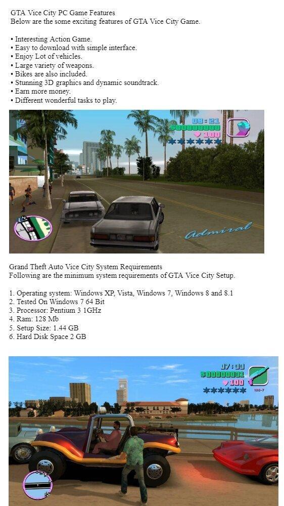 gta vice city for pc windows 7 64 bit