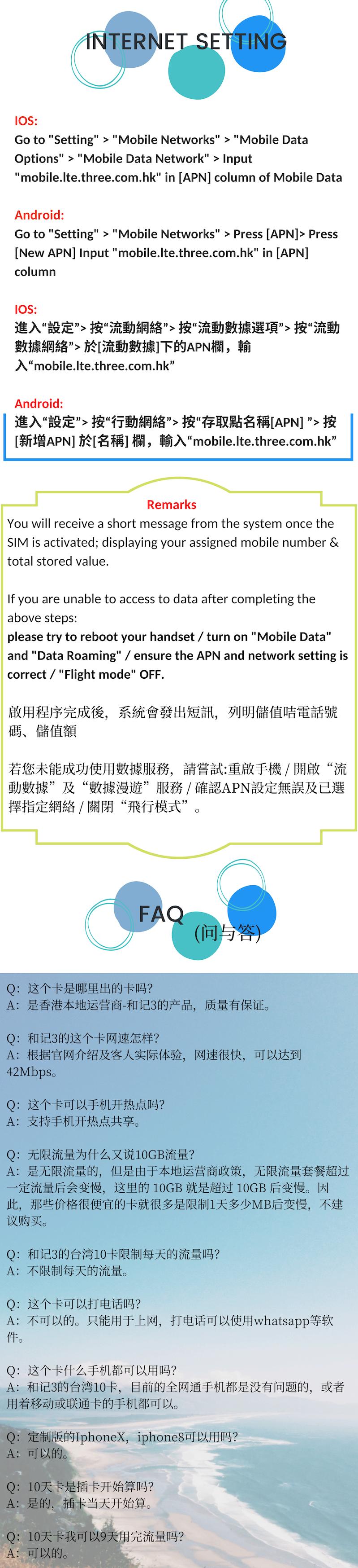 10 Days 10GB Taiwan Travel Sim Card - No Voice Call & SMS - READY STOCK