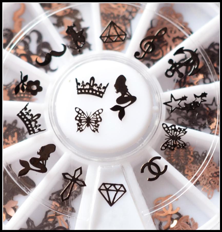 Metal Studs for Nail Art, Resin Filler, Theme Mix (710-506P)