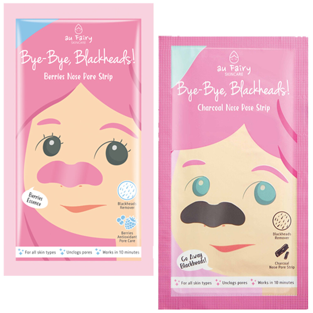 Au Fairy Bye-bye, Blackheads! Charcoal Nose Pore Strip Berries Nose Pore  Strip Skincare Products