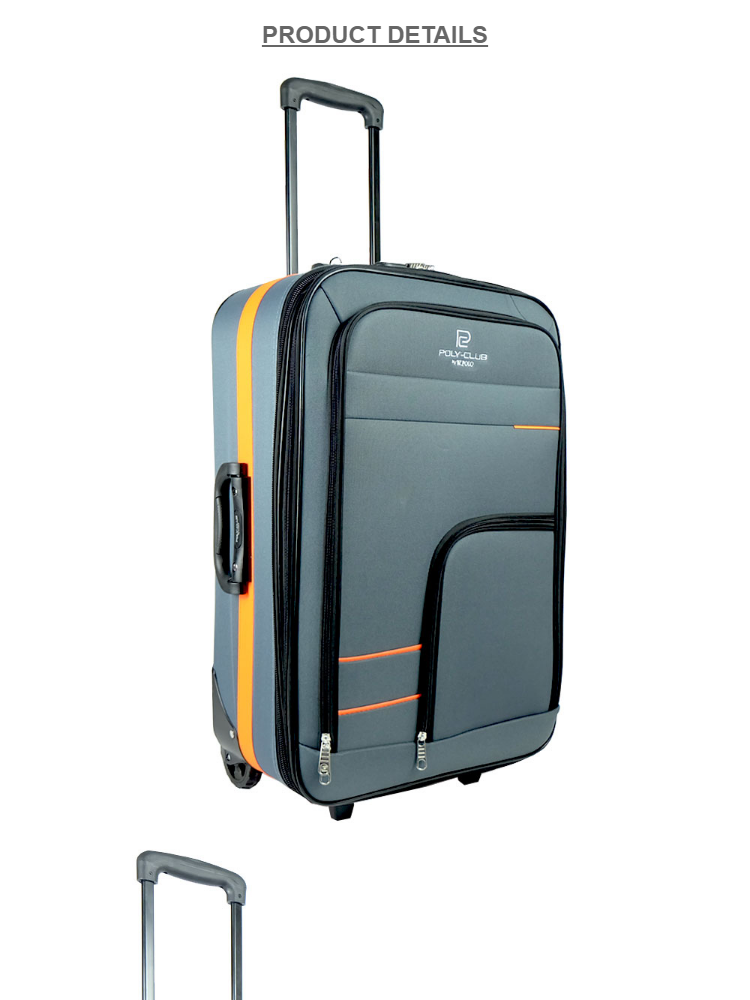 e70b189df7b 1 x W.POLO BE1814 20 inch 2 Wheels Expendable EVA Softcase Luggage-Grey  Orange