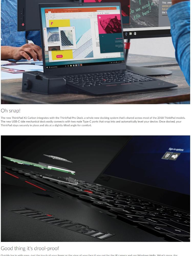 Lenovo ThinkPad X1 Carbon C6 20KGSBKW00 Black (Intel I7-8650U/16GB/512GB  SSD/Intel HD/14Inch)