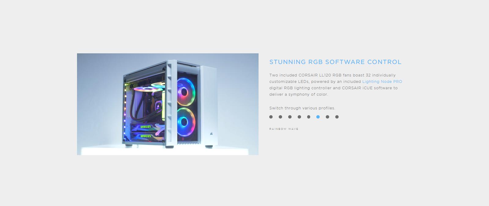 # Corsair Crystal Series 280X # RGB Micro-ATX Case (Black/White)