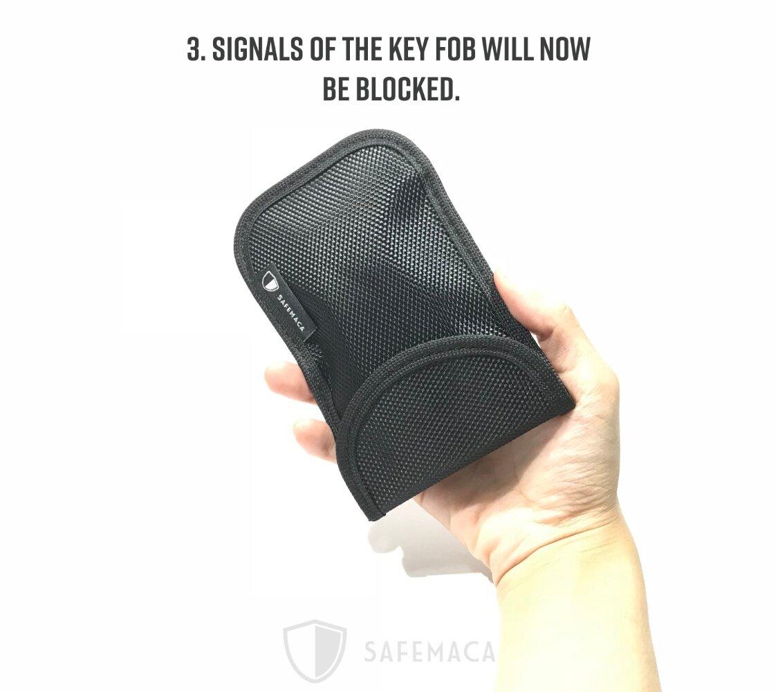 Safemaca Car Key Fob Keyless RFID Signal Blocking Protector