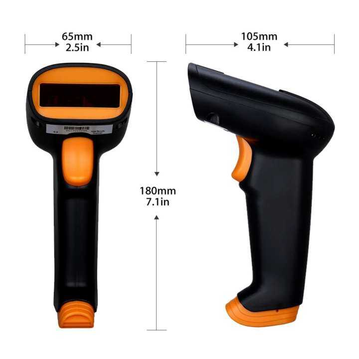 NTEUMM High Quality USB Wired Wireless Laser Barcode Scanner Pengimbas Reader