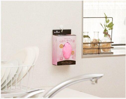 Showa Rose Pink Food Grade Disposable Nitrile Gloves 50pcs (M Size)