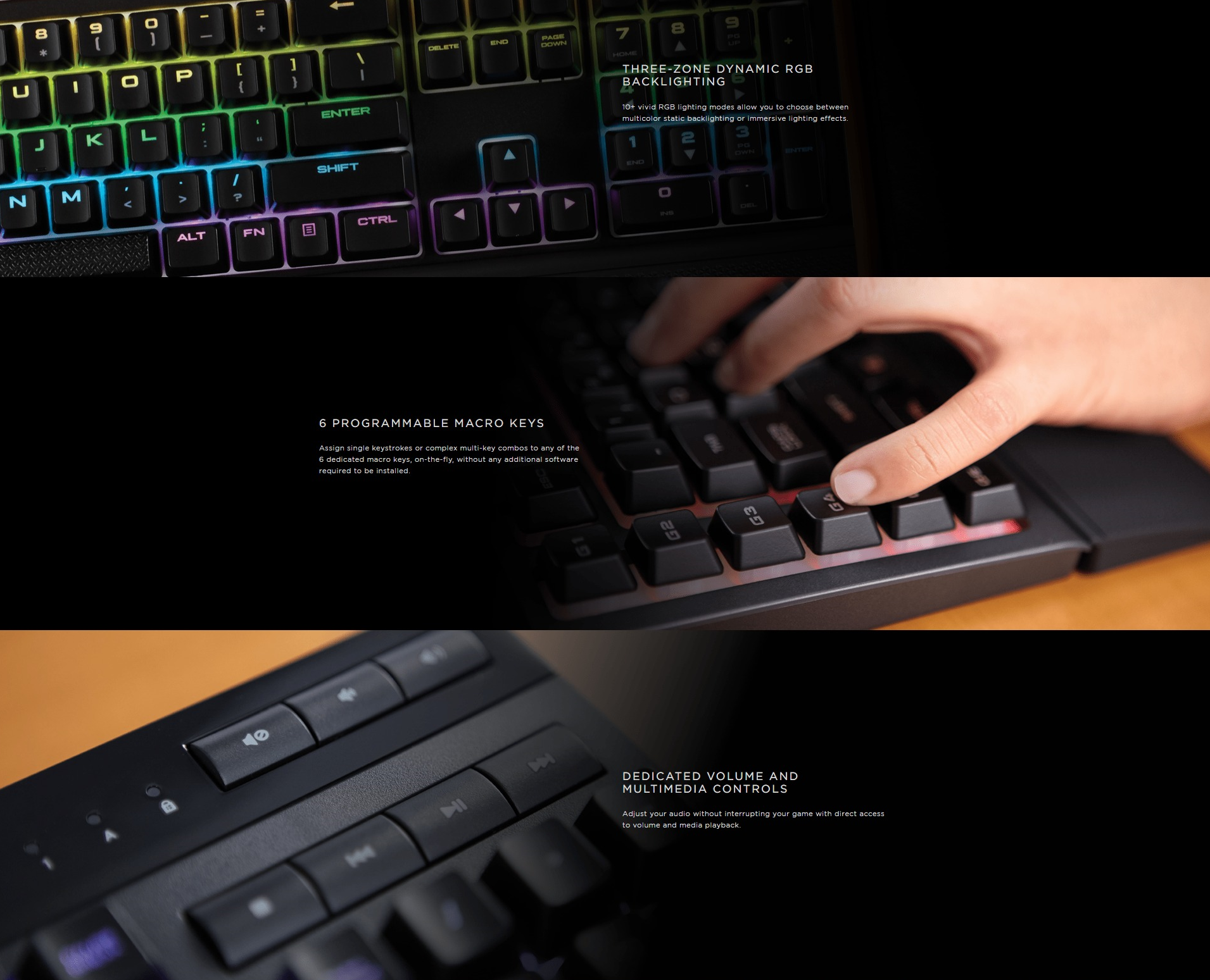 Corsair K55 Fn Commands