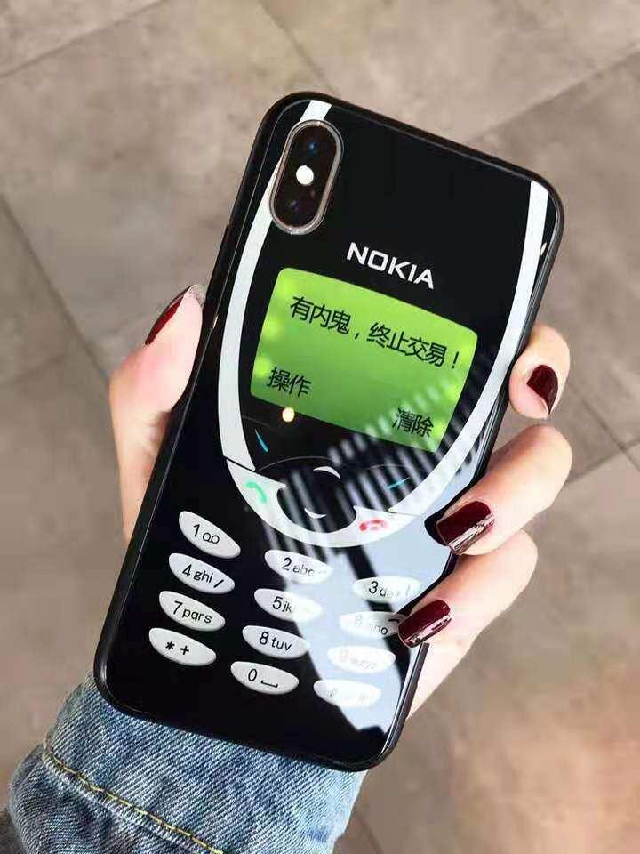 separation shoes e9005 f9062 Nokia 3310 Pattern Phone Case For iphone X / XS / XS MAX / XR / 6 / 6s / 6  plus / 6s plus / 7 / 8 / 7 plus / 8 plus Blue Cute