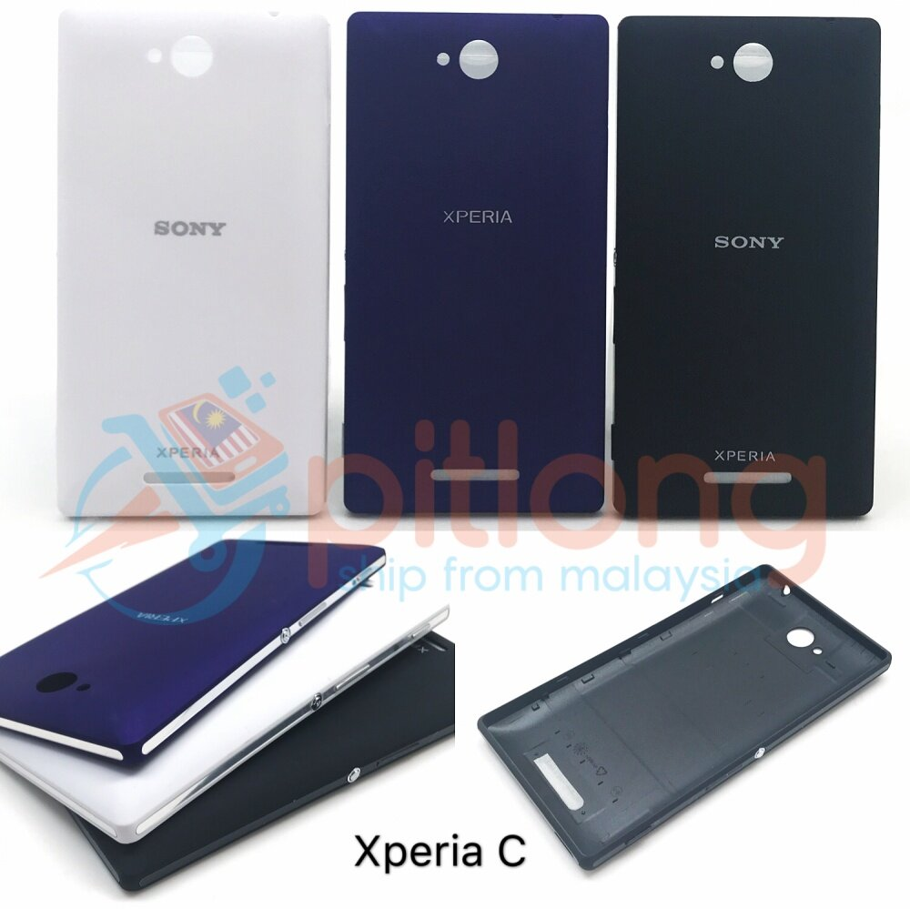 new concept 124a2 e194e SHOPSMARTER SONY XPERIA C C2305 S39H Battery Cover Replacement Back Door  Back Housing