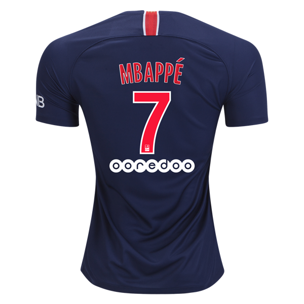 huge discount 1fd84 aff95 Kylian Mbappe Paris Saint-Germain 18/19 Home Jersey