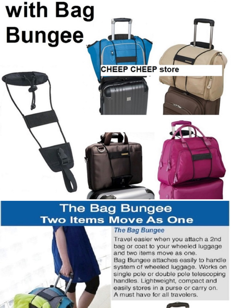 383970c68f51 Bag Bungee Adjustable Travel Luggage Strap - Add A Carry On Bag & Jacket  Strap