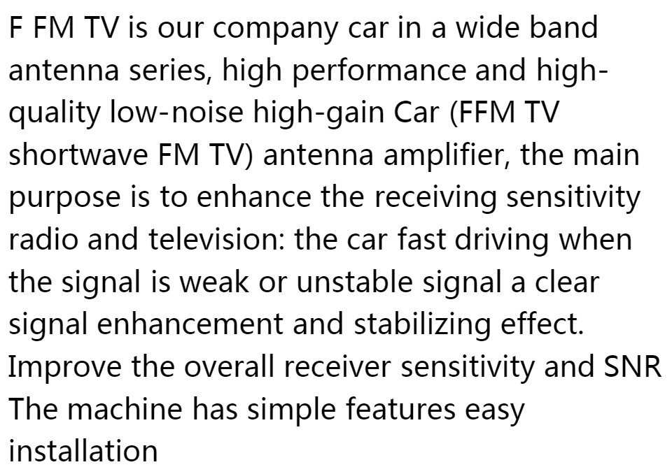 NIHUA-Auto Aerial Radio Antenna Automobile Antena TV Car Signal Reception  Amplifier Car Digital Automobile TV Antenna FM Antenna