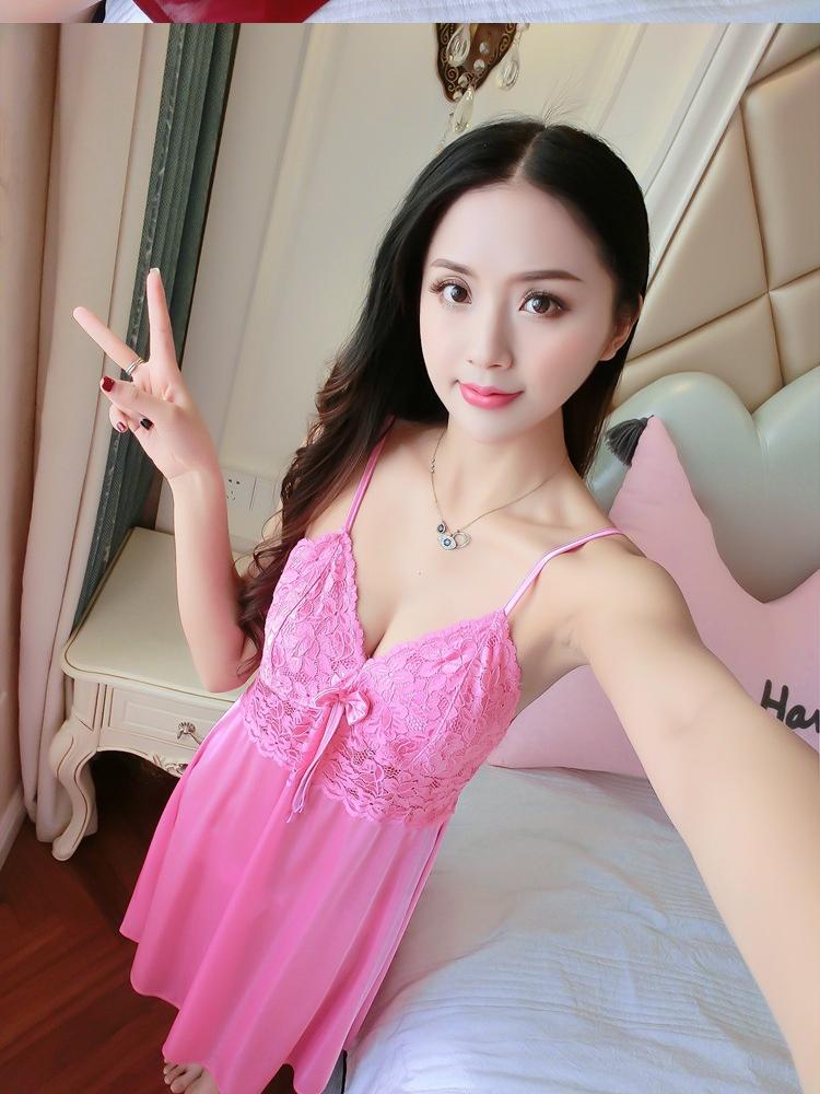 e412649d5 Bolster Store Ladies Women Sexy Lingerie Sleepwear Pajamas Pyjamas Long  Dress Silk Sleeveless Satin Comfortable Wear
