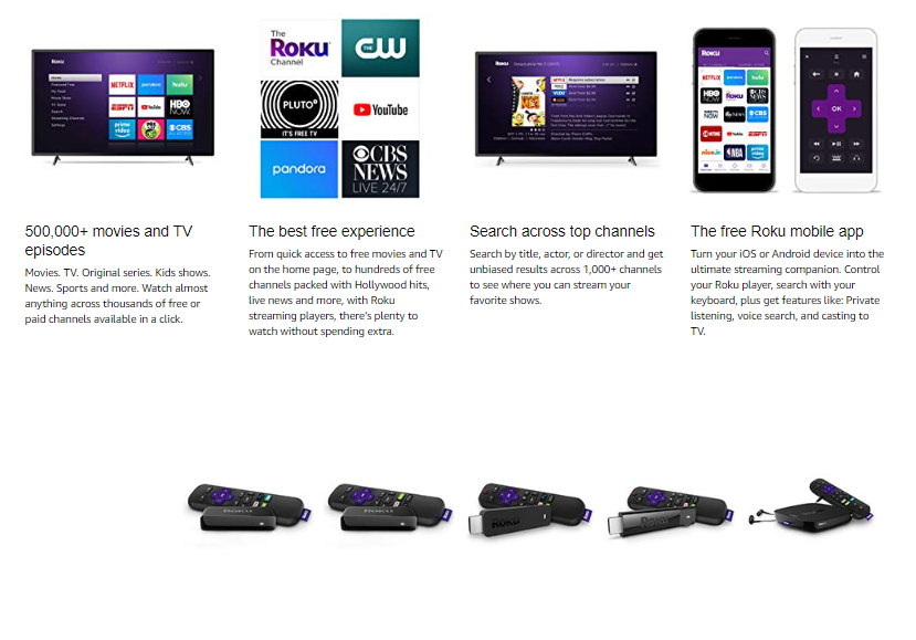 2018 Roku Express Easy High Definition (HD) Streaming Media Player