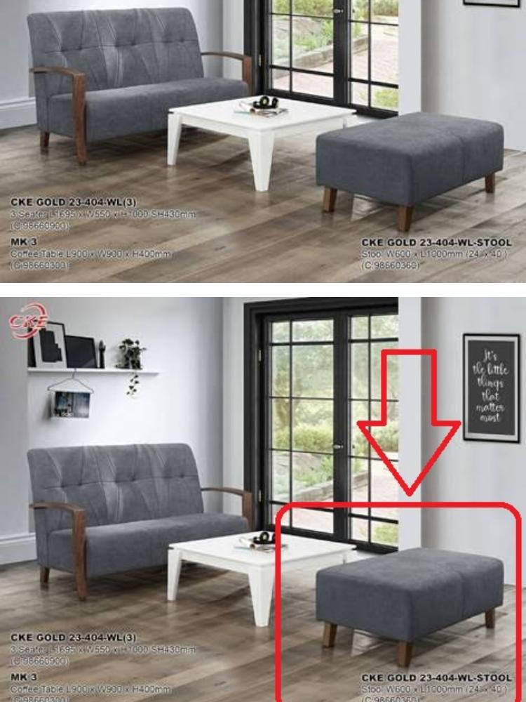 Fabric Sofa Laz Vegas Grey
