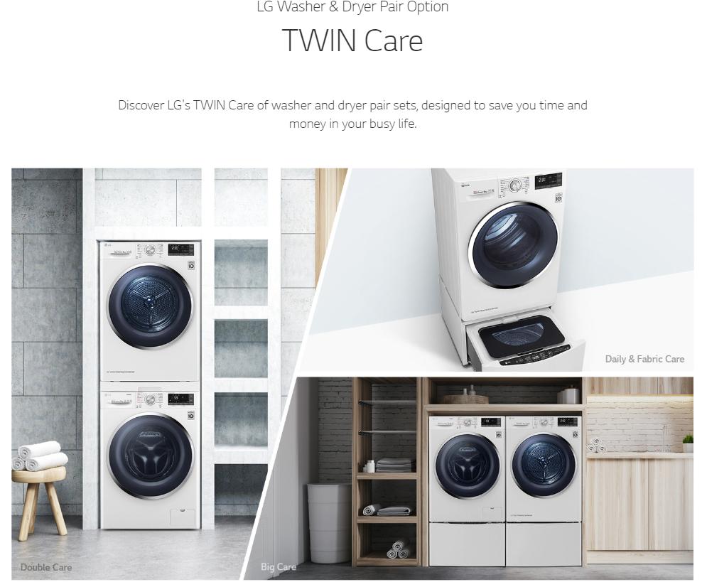 LG Dryer TDH9066WS 9KG Dual Inverter Heat Pump Dryer | PrestoMall - Laundry  Dryer