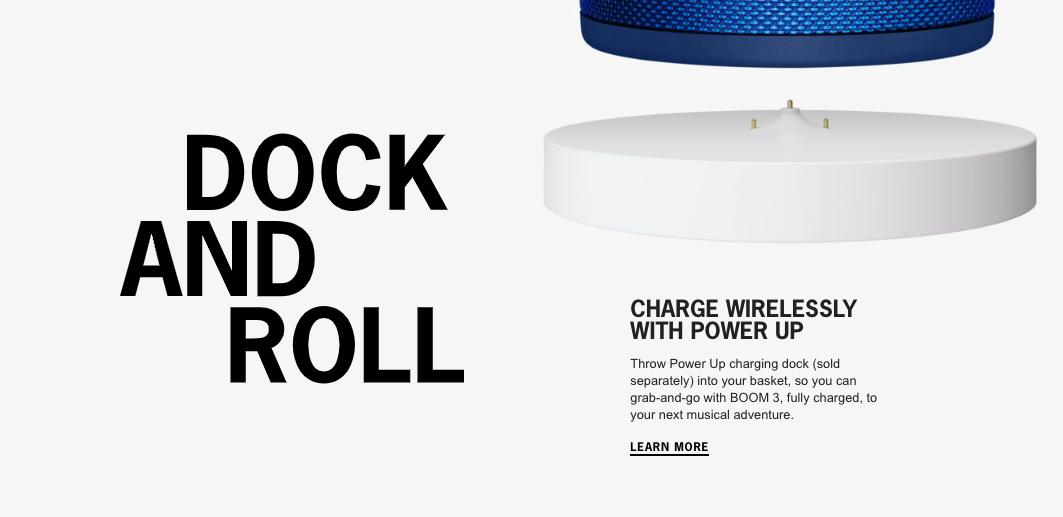 Ultimate Ears UE BOOM 3 - Waterproof Wireless Bluetooth Portable Speaker,  Deep Bass (15 HOURS PLAYTIME)