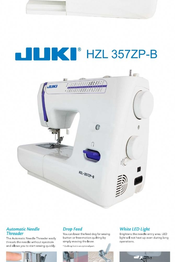 JUKI HZL 357ZP-B Sewing Machine 32 Stitch Patterns (100% Genuine Juki brand)