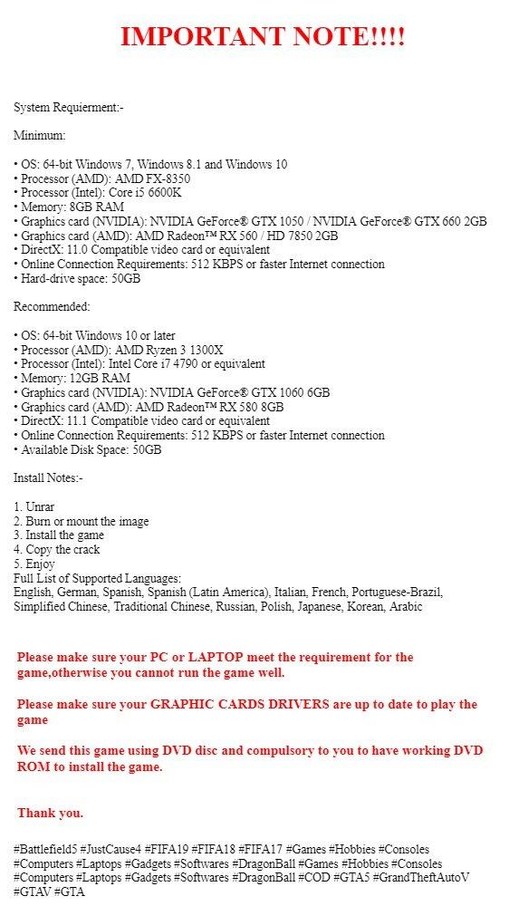 Battlefield V - Offline PC Game with DVD