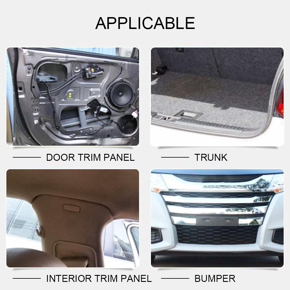 350Pcs Car Body Plastic Push Pin Rivet Fasteners Trim Moulding Clip Screwdriver
