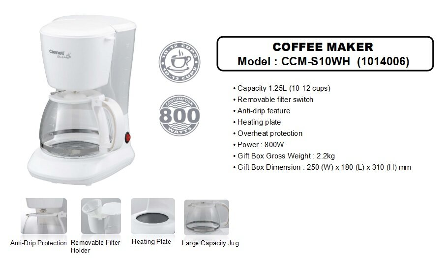 Cornell Coffee Maker Ccm S10wh Banhuat Com