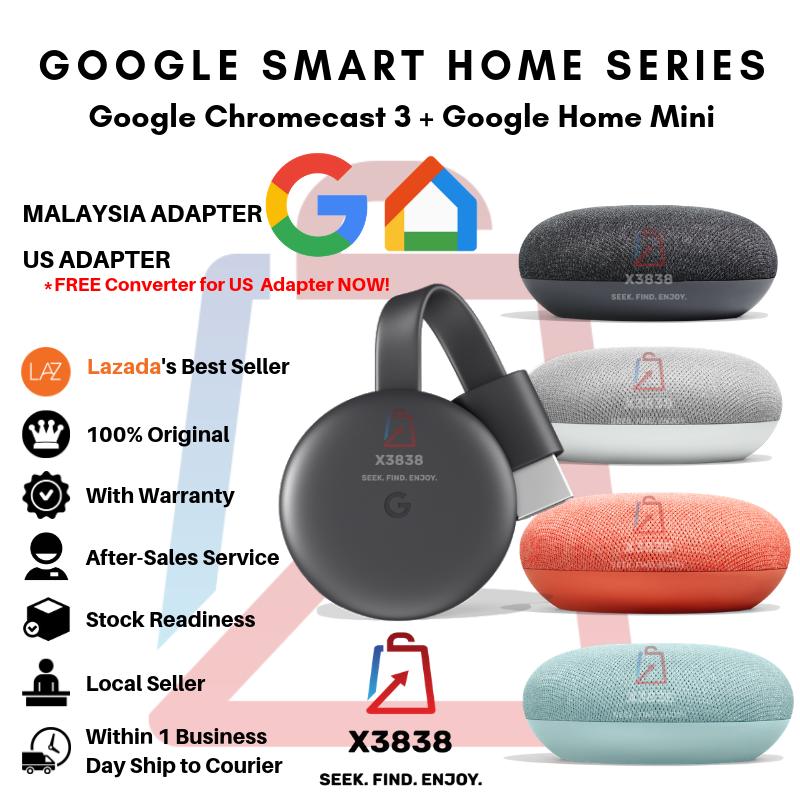 Google Chromecast 3 & Google Home Mini Google Assistant Smart Home Series
