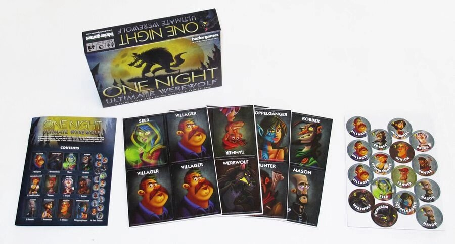 One Night Ultimate Werewolf Board Game (English Version) Party Game Funny