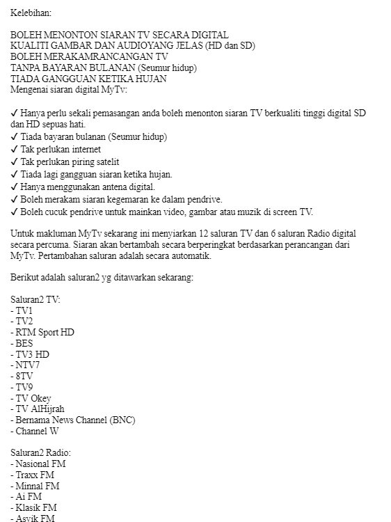 Ready Local Stock ) 2019 New Feature Mytv Full Complete Set