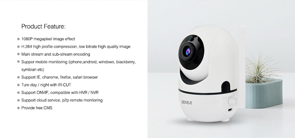 1080P Wireless Security Camera IP Camera with Night Vision/Two-Way Audio  2 4Ghz WiFi Indoor Home Dome Camera for Pet Baby